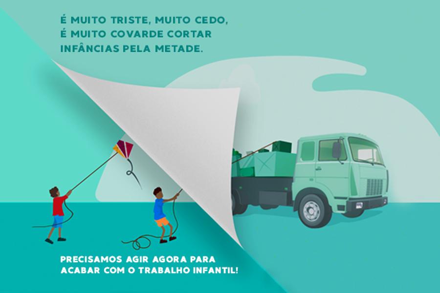 Campanha alerta para urgência em erradicar o trabalho infantil